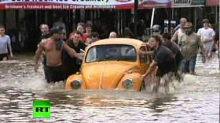 Fresh video of flood chaos in Australia as water swamps Brisbane