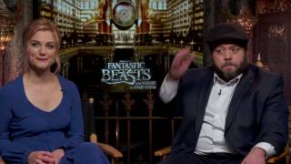 Fantastic Beasts And Where To Find Them Interview  <b>Alison Sudol</b> & Dan Fogler