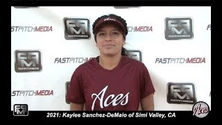2021 Kaylee Sanchez-DeMaio First Base Softball Skills Video - Aces