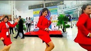 Video Beautiful Air Hostess dance in airport must watch ! MP3, 3GP, MP4, WEBM, AVI, FLV Januari 2019