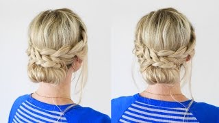 French Lace Braid Updo | Back to School Hairstyles by Cute Girls Hairstyles