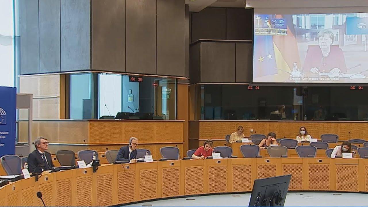 Τηλεδιάσκεψη του προέδρου του Ευρωπαϊκού Κοινοβουλίου με την Α. Μέρκελ