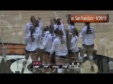 HIGHLIGHTS: Women's Volleyball vs. San Francisco - 9/29/15