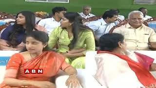 YS Jagan Family Grand Entry At Jagan Swearing In Ceremony | ABN Telugu