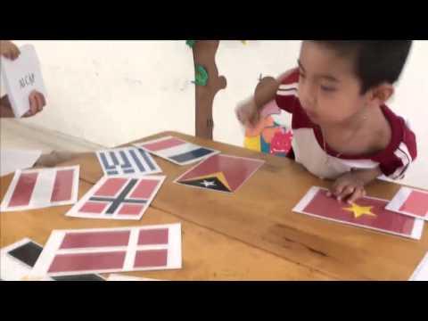 Trò chơi Tráo thẻ - Mầm non iSchool Rạch Giá
