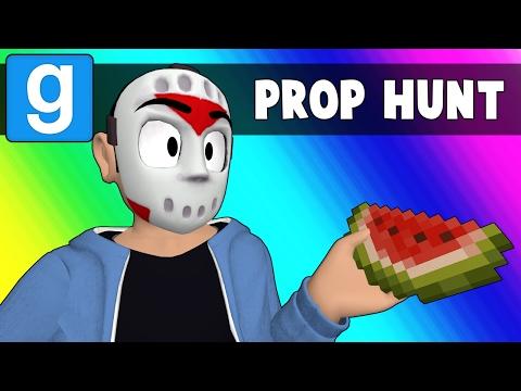 Gmod Prop Hunt Funny Moments - Rude Minecraft Snowman (Garry's Mod) (видео)