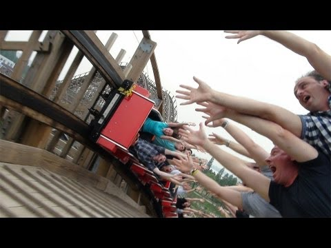 on ride - 0:45 - Blue side POV - 4:06 - Red Side POV - Follow us on Twitter http://www.twitter.com/themeparkreview and Facebook http://www.facebook.com/themeparkreview...