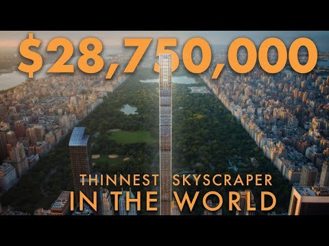 Touring a $28,750,000 Apartment in the THINNEST SKYSCRAPER IN THE WORLD | NYC