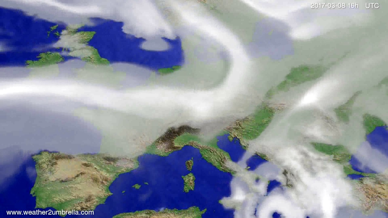 Cloud forecast Europe 2017-03-05