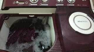 How to wash clothes in semi automatic washing machine in hindi