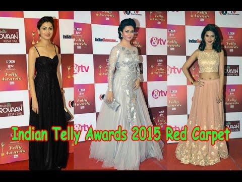 Indian Telly Awards 2015 Red Carpet   Divyanka Tri