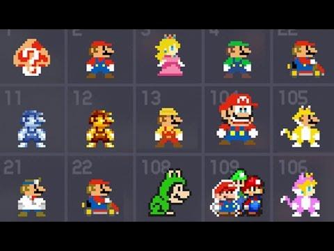 Super Mario Maker - All 153 Costume Mario / Mystery Mushroom Suits