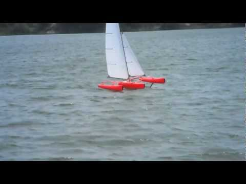 FireDragon - Hydro Foiling on Asymmetric Foils - Mini40/F-48 Trimaran