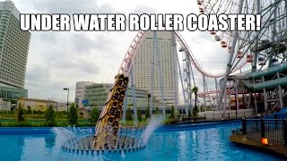 Yokohama Japan  city photos gallery : Underwater Roller Coaster POV 60 FPS - Cosmoworld Yokohama Japan