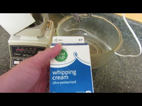 Make:  Butter From Whipping Or Heavy Cream [CC]