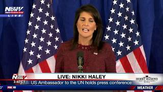 LIVE: New North Korea Sanctions - UN Ambassador Nikki Haley Press Conference