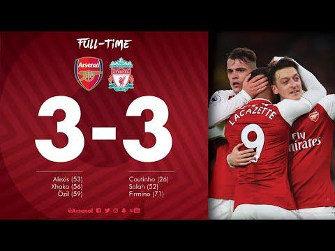 Arsenal vs Liverpool 3-3 Highlights (22,12,17)