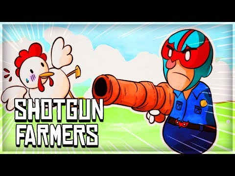 SHOTGUN FARMERS FUNNY MOMENTS - CATCH THE CHICKEN! (New Indie Game)