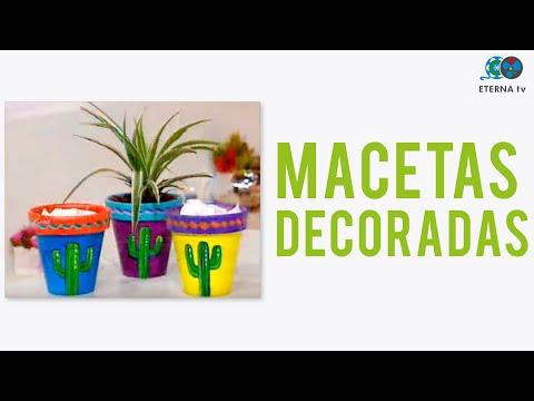 Esmalte Acrílico al Agua sobre Macetas - Mónica Godfroit en Bienvenidas Tv