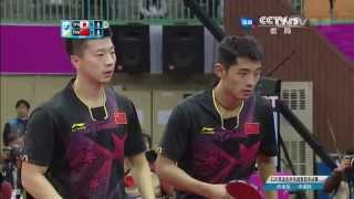 2014 Asian Games MD-SF2: Ma Long/Zhang Jike - Niwa Koki/Matsudaira Kenta [HD] [Full Match/Chinese]