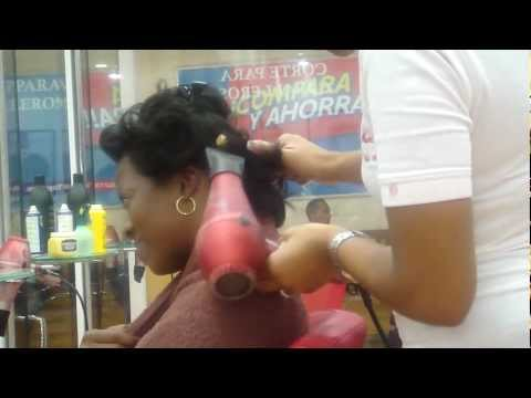 Dominican Blowout On African American Hair