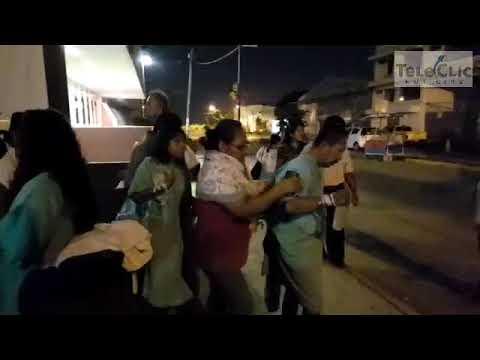 Desalojan a pacientes de clínica del IMSS en Coatzacoalcos por sismo
