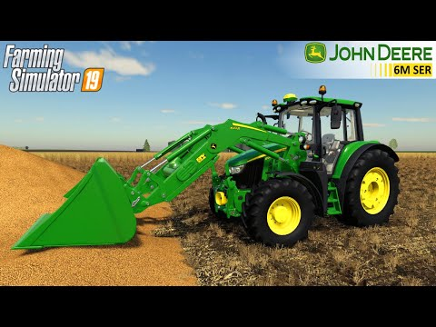 Farming Simulator 19 - 2020 JOHN DEERE 6M SERIES Tractor Loads Wheat Into A Trailer