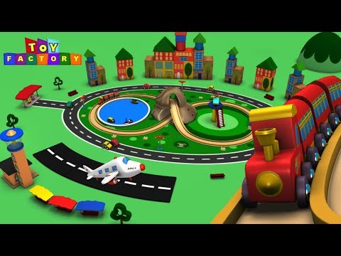 Cartoon Cartoon - Trains for Kids - Choo Choo Train - Toy Factory - Trains for Children - Toy Trains