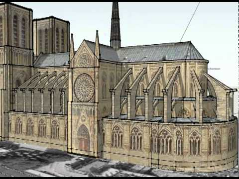 Notre Dame Cathedral - Sketchup