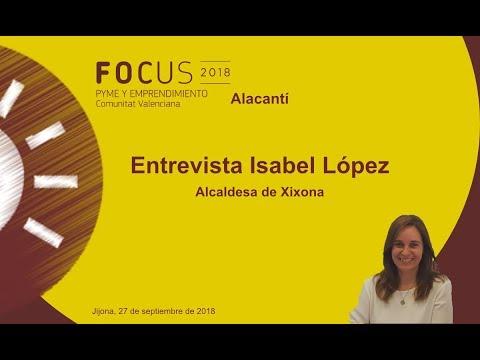 Isabel López, Alcaldesa de Xixona en Focus Pyme L'Alacantí[;;;][;;;]