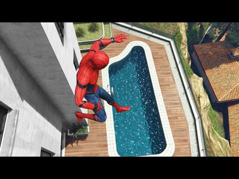 GTA 5 Water Ragdolls | SPIDERMAN Jumps/Fails ep.16 (Euphoria physics | Funny Moments)
