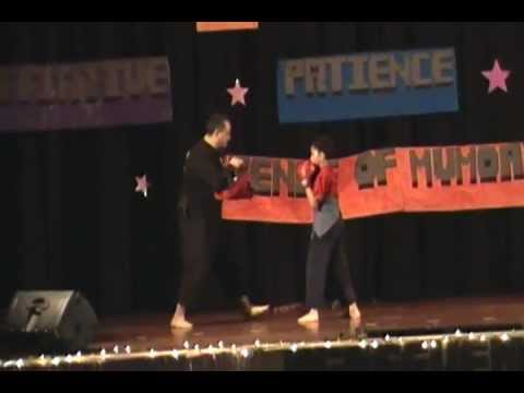milan fashion silate - My 9 year old son & I performing a Martial Arts Demonstration at my son's school talent show for his last year there. Featuring techniques from Muay Thai, Ju...