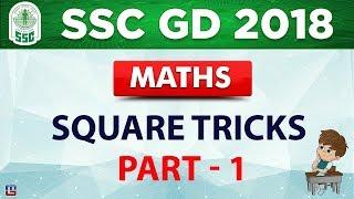 Square Tricks | Part 1 | SSC GD 2018 | Maths | Live at 2 PM