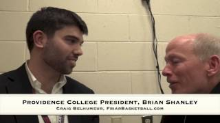 Craig Belhumeur with Providence College President, Brian Shanley