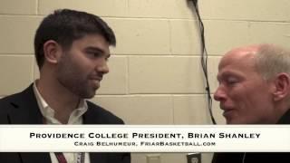 Craig Belhumeur with Providence College President, Brian Shanley