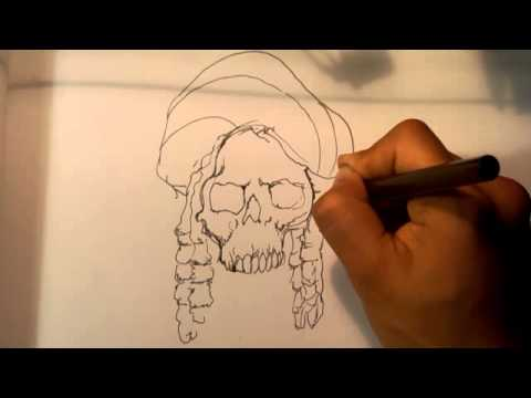 Skull Smoking Weed Drawing Stoner Skull – Skull Drawings