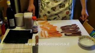 [Ricettaincucina.it] Ricetta SUSHI - Videoricetta - Preparazione (parte 1/2)