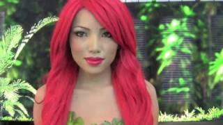Poison Ivy Make-up Tutorial !!!(Cartoon Version)
