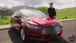 2013 Ford Fusion Hybrid Review&Test Drive By Chris Leary For Car Pro News