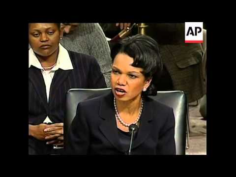 Confirmation hearing for Rice as Secretary of State