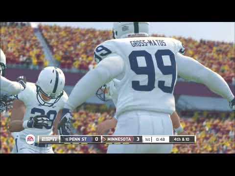 (Penn State Nittany Lions vs Minnesota Golden Gophers) PS3 (NCAA Football 20 2019 2020 Season)