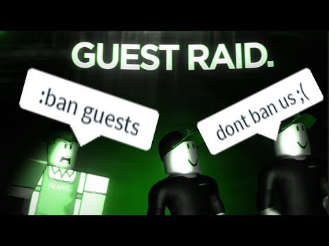 ROBLOX Raiding as GUESTS (BANNED 2 TIMES) (видео)