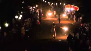 石上げ祭(11)(最終章) 花火打ち上げ・火振り神事