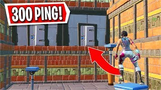 I tried to play a Deathrun on 300 PING... *HARD* (Fortnite Creative)