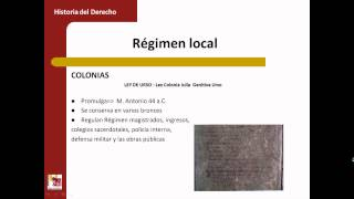 Umh1193sp 2013-14 Bloque 1.1.2 Régimen Provincial Y Local De Hispania