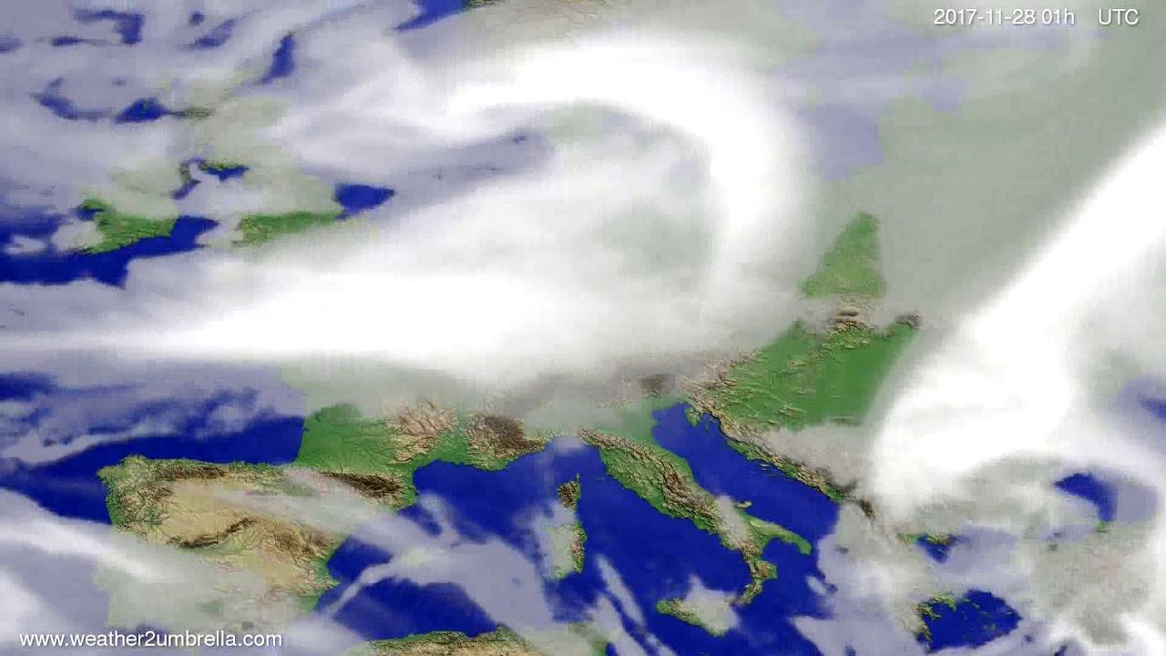Cloud forecast Europe 2017-11-25