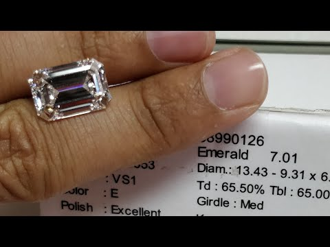 7ct emerald cut diamond price E color VS1 clarity certified by GIA
