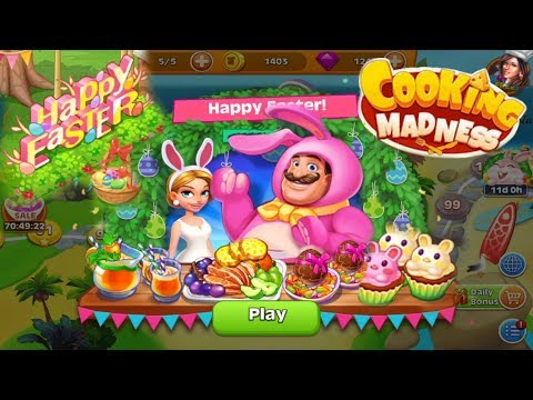 Cooking Madness/ Easter Event -Amazing Food 😍💥😍/ Levels 1 To 16