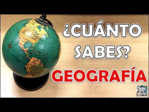 """100 Preguntas de """"GEOGRAFÍA"""" Test/Trivial/Quiz"""