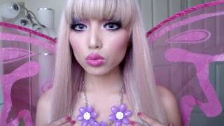 Fairy Barbie Princess Make-up look !!! - YouTube